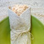 Tunawrap i grön skål