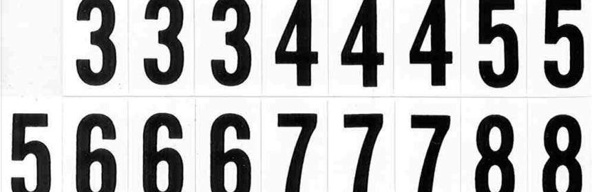 siffror i mängder