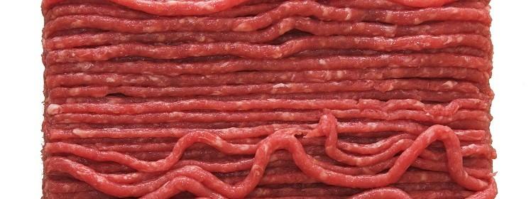 Rå köttfärs i närbild