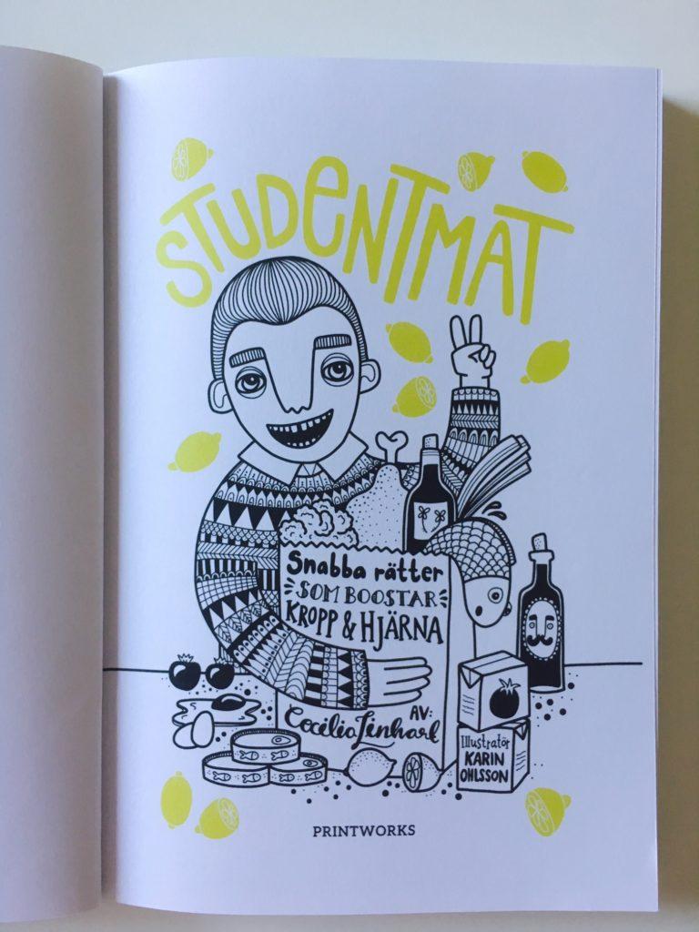 """Insida framsida i """"Studentmat: snabba rätter som boostar kropp & hjärna"""""""