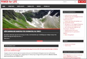 Printscreen på powerforlife.se med bloggen om vandring i Courmayeur, Italien